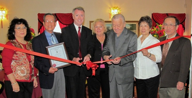 40th Anniversary Ribbon Cutting with Mayor of Sarnia Mr. Mike Bradley & former Mayor of Sarnia Mr. Andy Brandt